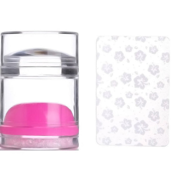 BLING JELLY STAMPER & SCRAPER SET (Clear & PINK Stamper)