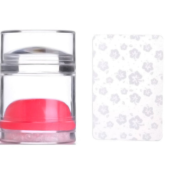 BLING JELLY STAMPER & SCRAPER SET (Clear & RED Stamper)