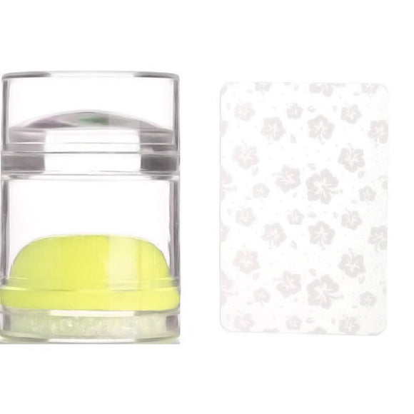 BLING JELLY STAMPER & SCRAPER SET (Clear & YELLOW Stamper)