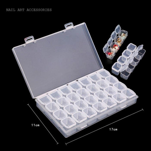 28 SLOT Nail Art Storage Case