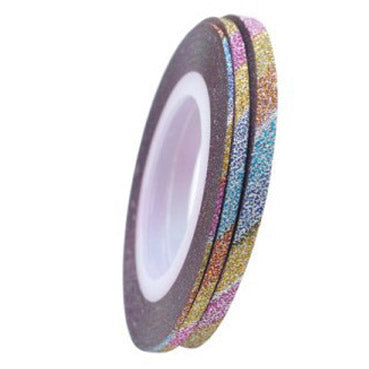 GLITTER Striping Tape - MULTICOLOUR