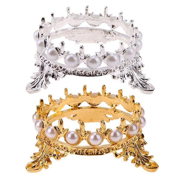 BRUSH HOLDER CROWN - SILVER/GOLD