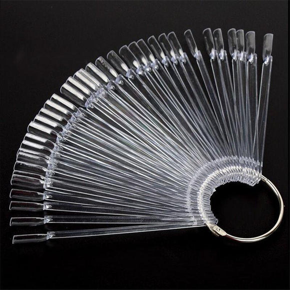 Colour Display Stick - CLEAR 50pcs with Ring