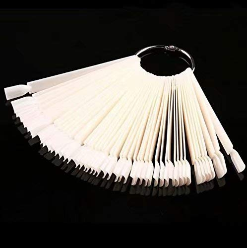 Colour Display Stick - NATURAL 50pcs with Ring