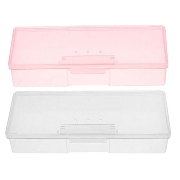 File/Tool/Brush Storage Box - WHITE/PINK