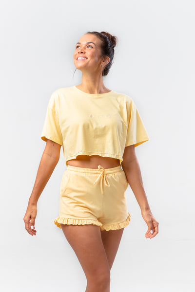 BE WYSE Crop Shirt - ginger