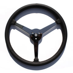 Sprint Style Steering Wheel 3 Spoke Leather Wrapped (inc. horn cap pieces)