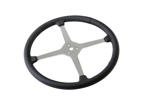Sprint Style Steering Wheel 4 Spoke Leather Wrapped(inc horn cap pieces)