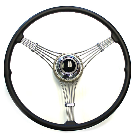 Banjo Steering Wheel 1937-1939 With Plain Black Horn Assembly (sorry out of stock at present time)