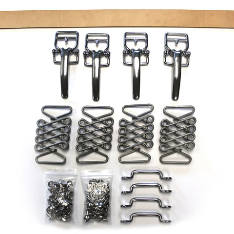 Vintage Hood Strap Kit Stainless Steel for Stock Hood