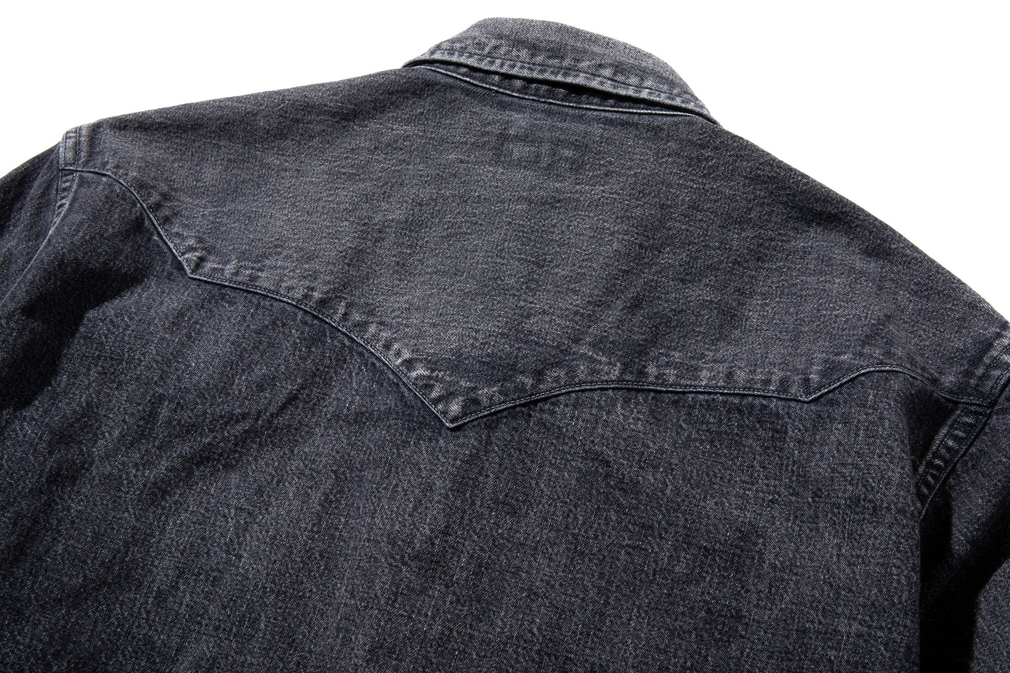 JOE McCOY BLACK DENIM WESTERN SHIRT / WASHED