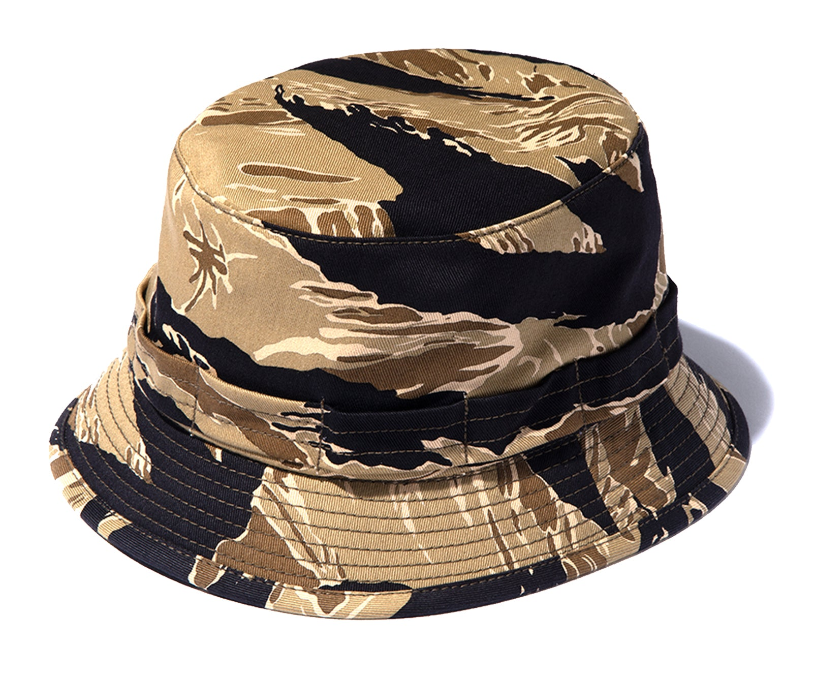 TIGER CAMOUFLAGE BOONIE HAT / GOLD TONE