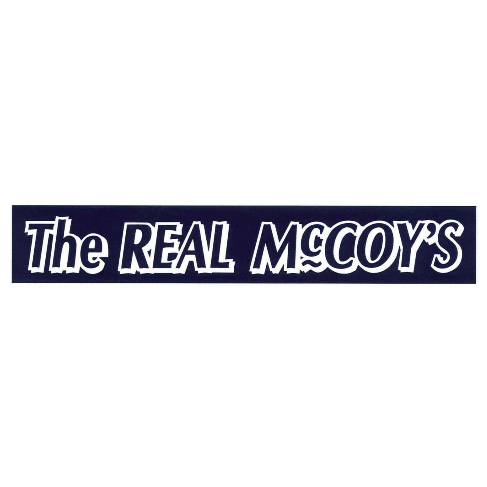 THE REAL McCOY'S LOGO STRIP STICKER