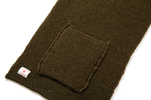 WOOL, RIBBED MUFFLER