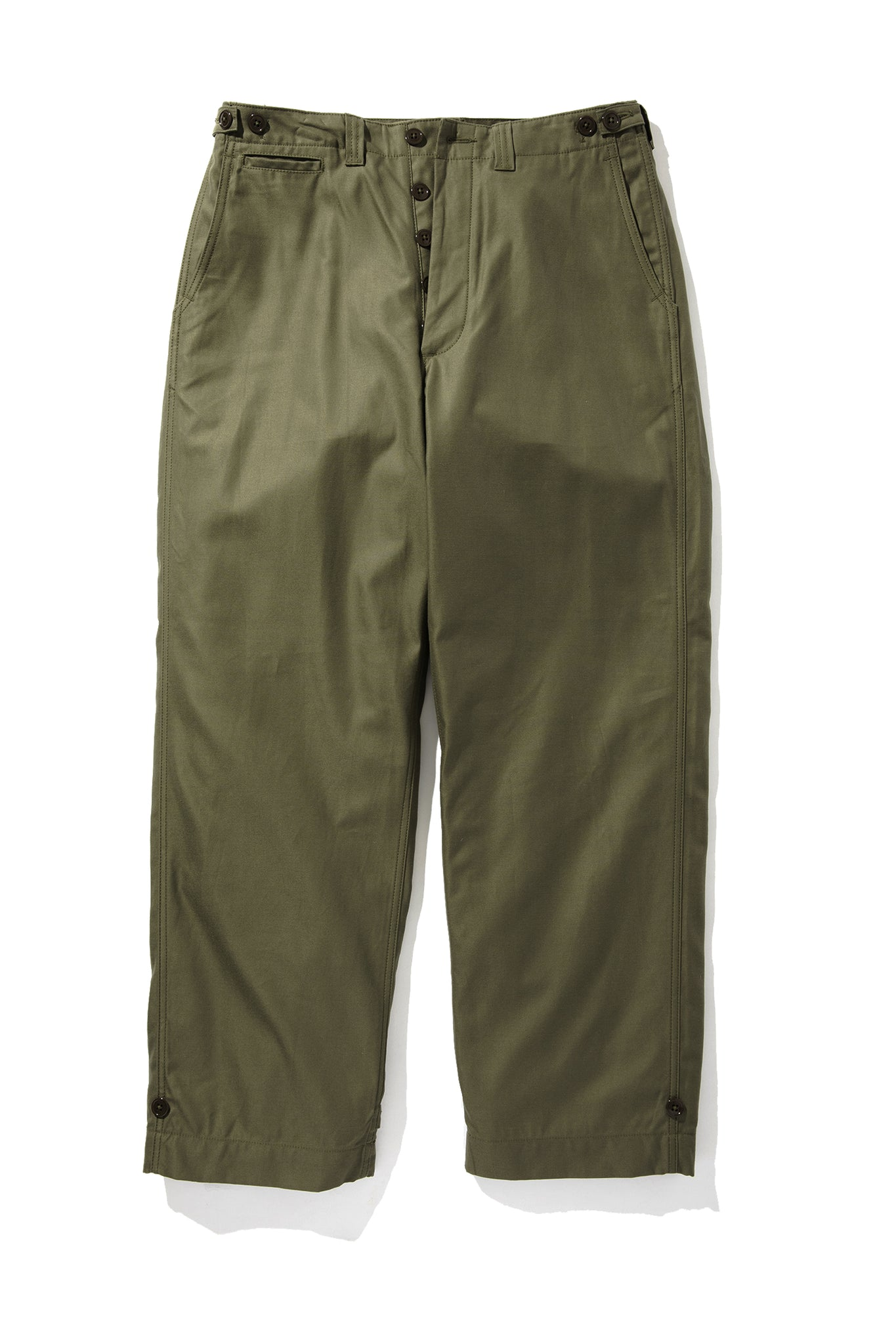 TROUSERS, FIELD, COTTON, O.D.