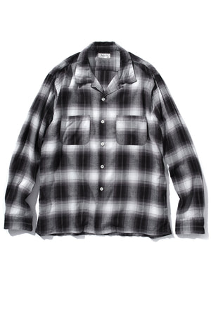 SHADOW CHECK RAYON SHIRT
