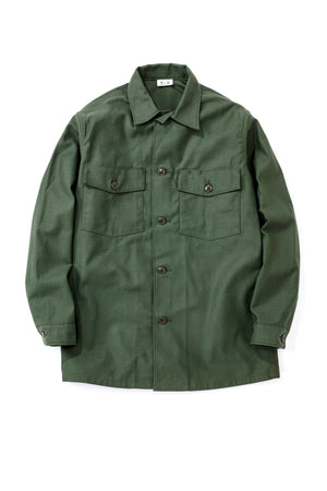 SHIRT, MAN'S, COTTON SATEEN, OLIVE GREEN SHADE 107