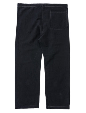 JUNK FORCE BLACK PAJAMA TROUSERS