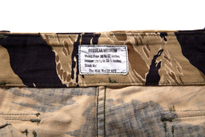 TIGER CAMOUFLAGE SHORTS / GOLD TONE