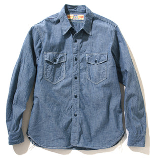 U.S.N. CHAMBRAY SHIRT L/S (PLAIN)