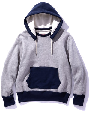 DOUBLE FACE AFTER-HOODED SWEATSHIRT