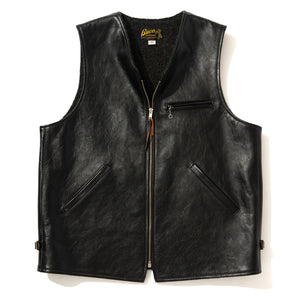 BUCO LEATHER ALPACA VEST