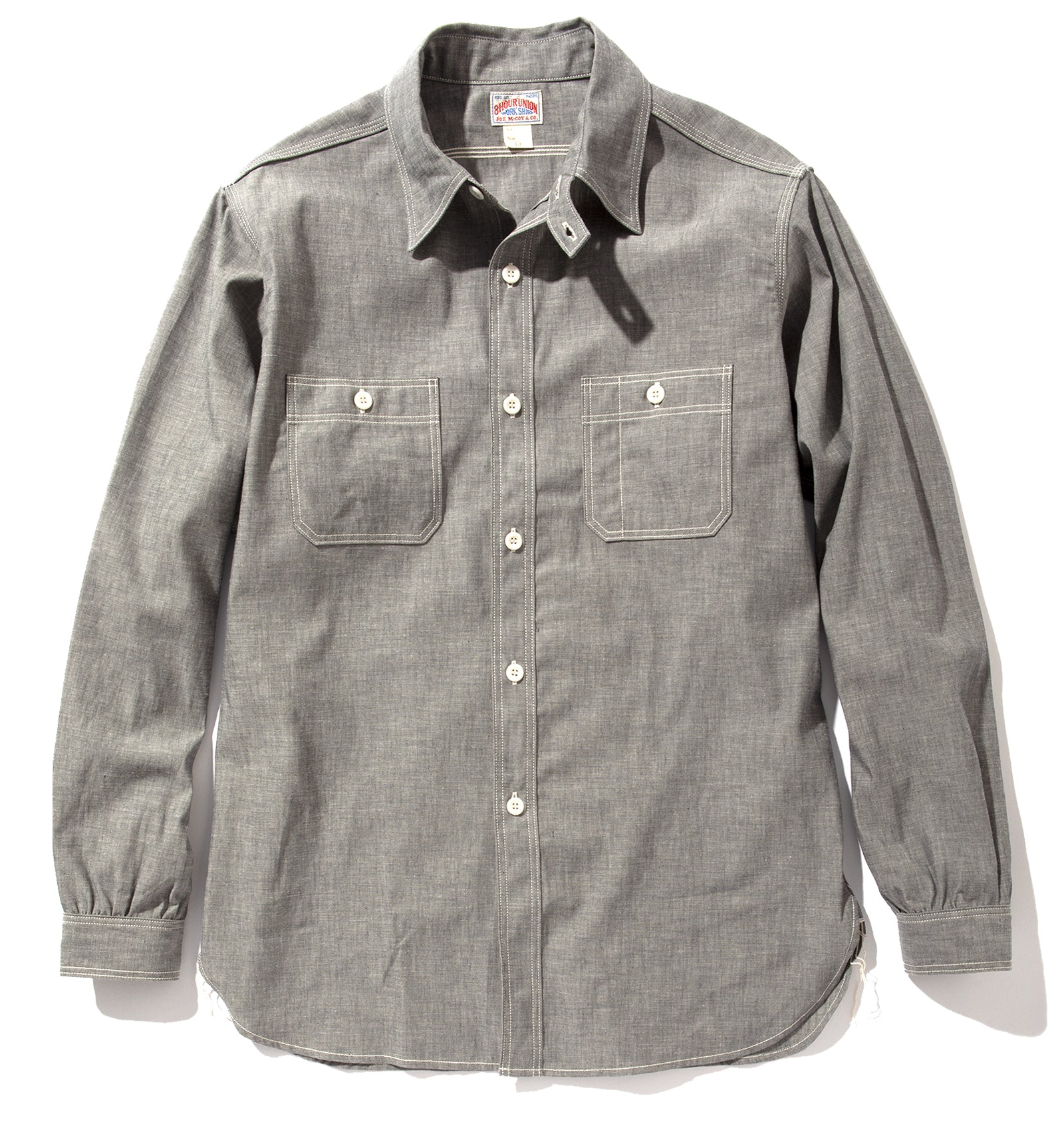 8HU GREY CHAMBRAY SERVICEMAN SHIRT