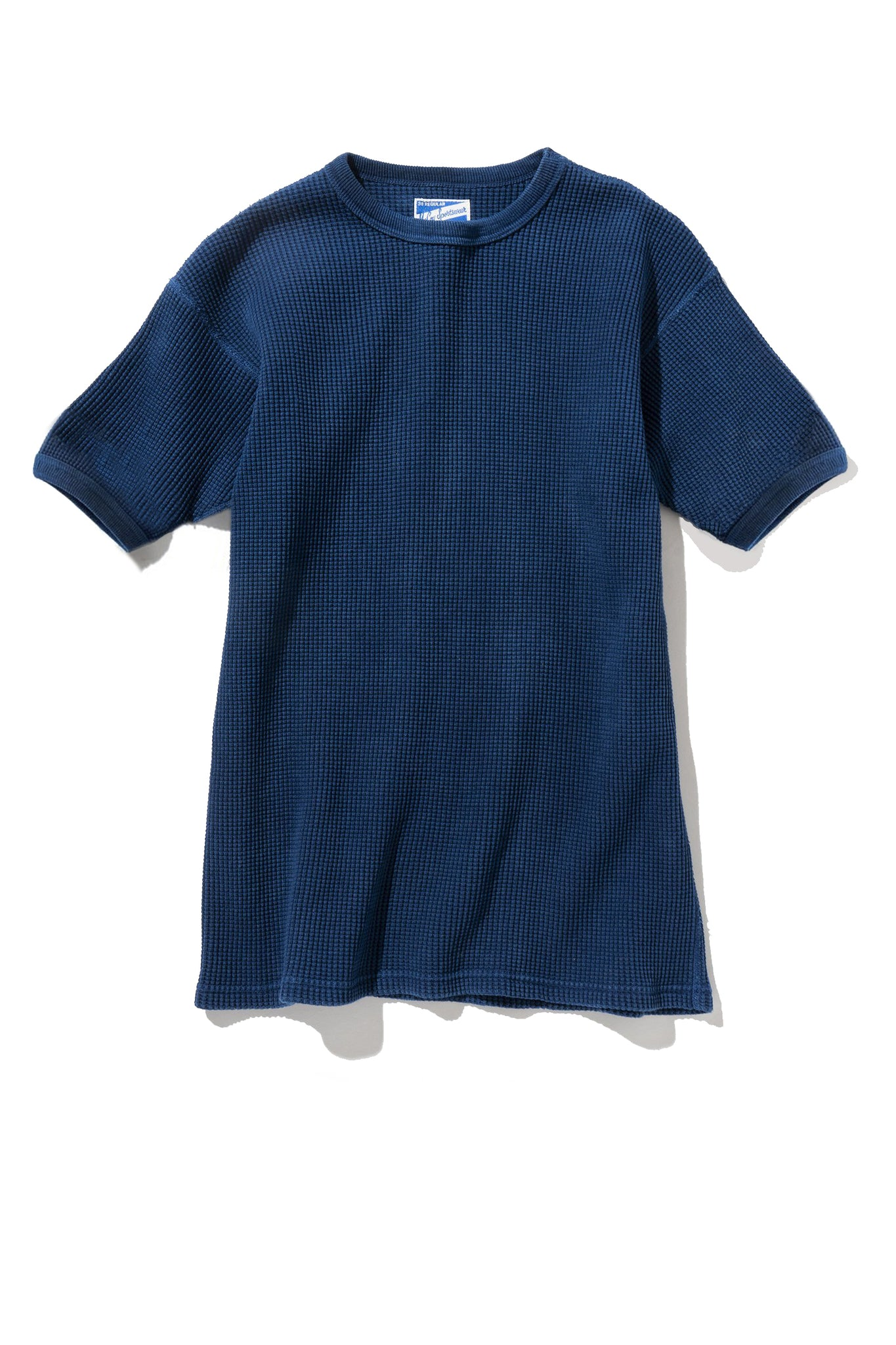 TUBE KNIT THERMAL S/S (HAND DYED INDIGO)