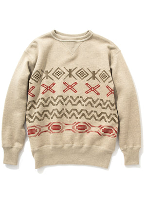 PRINTED NATIVE PATTERN SWEATSHIRT