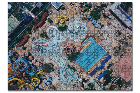 1000 Piece Jigsaw Puzzle - Drone Shot - waterpark