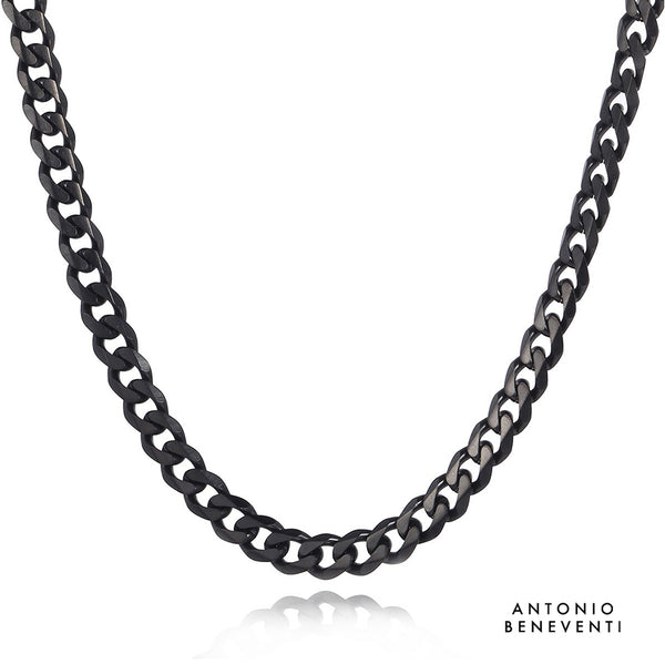 316L Black Plated Cuban Link Chain