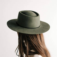 Load image into Gallery viewer, Wren Flat Brim Telescope Crown Hat - Green