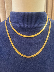 Gold Plated Herringbone Chains