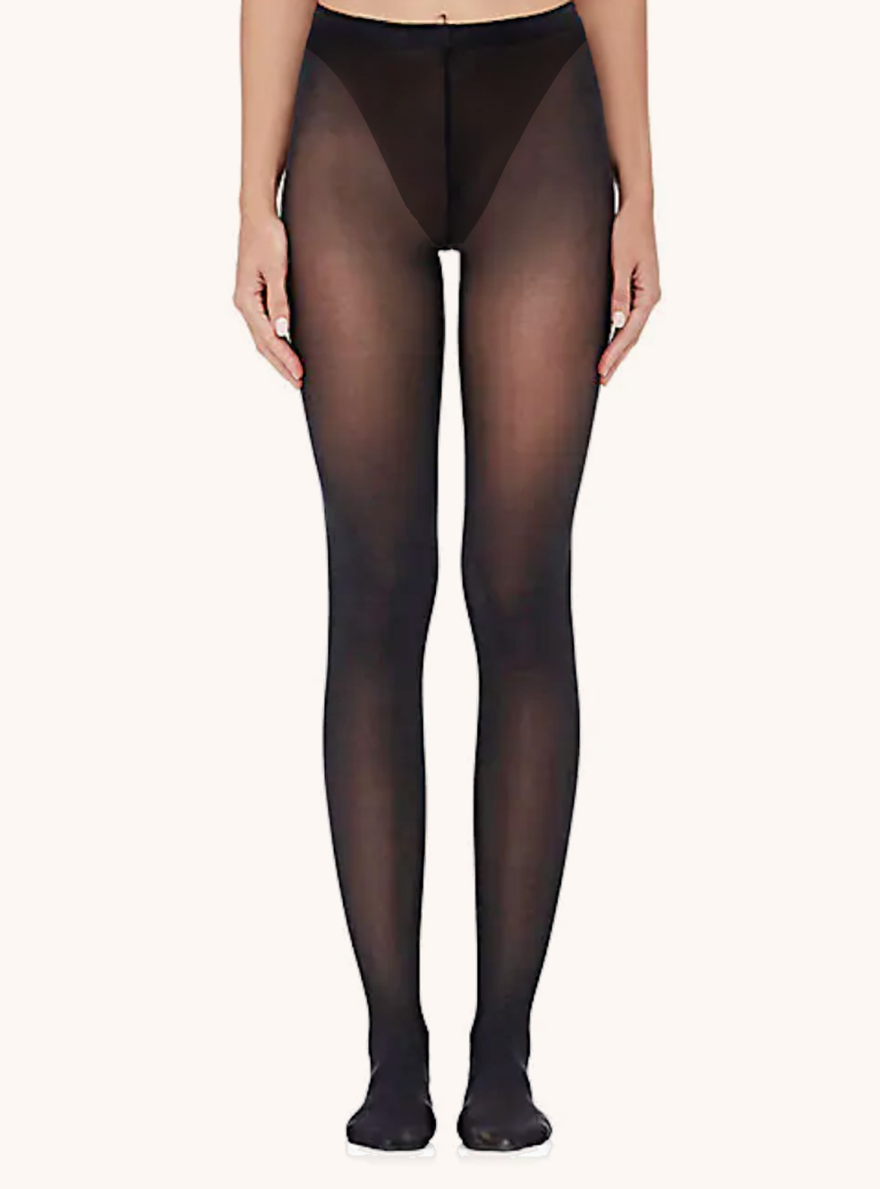 Sheer Italian Tights With Control   - Black