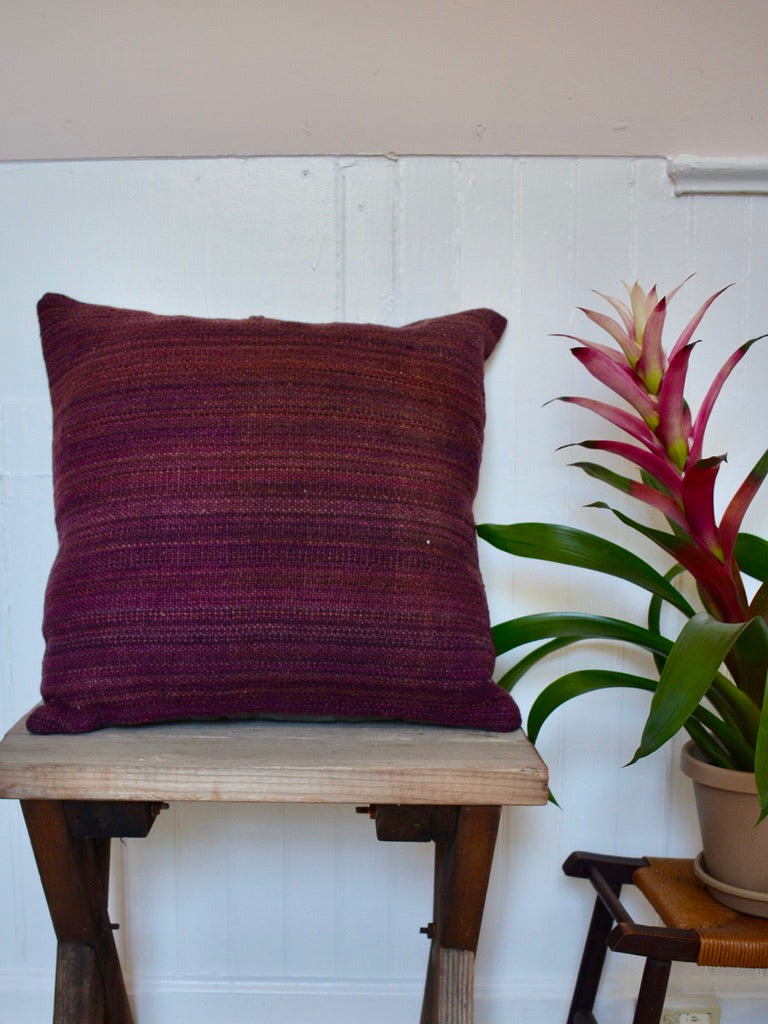 18x18 Dark Purple Kilim Pillow