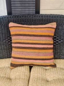 20x20 Boho Striped Kilim Pillow