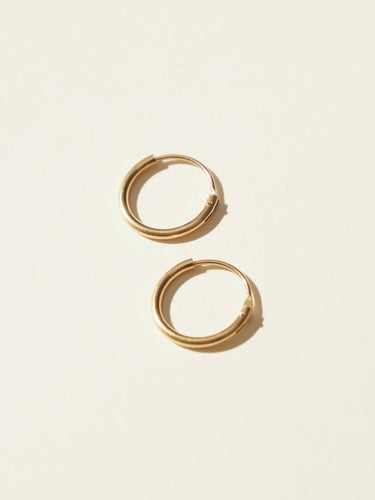 Gold Filled Endless Hoop Earrings