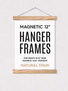Magnetic Hanging Frames - Natural