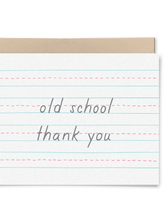 Load image into Gallery viewer, Old School Thank You Card