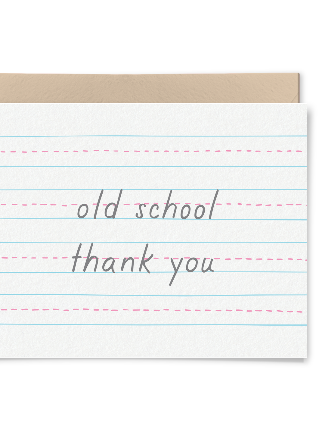 Old School Thank You Card
