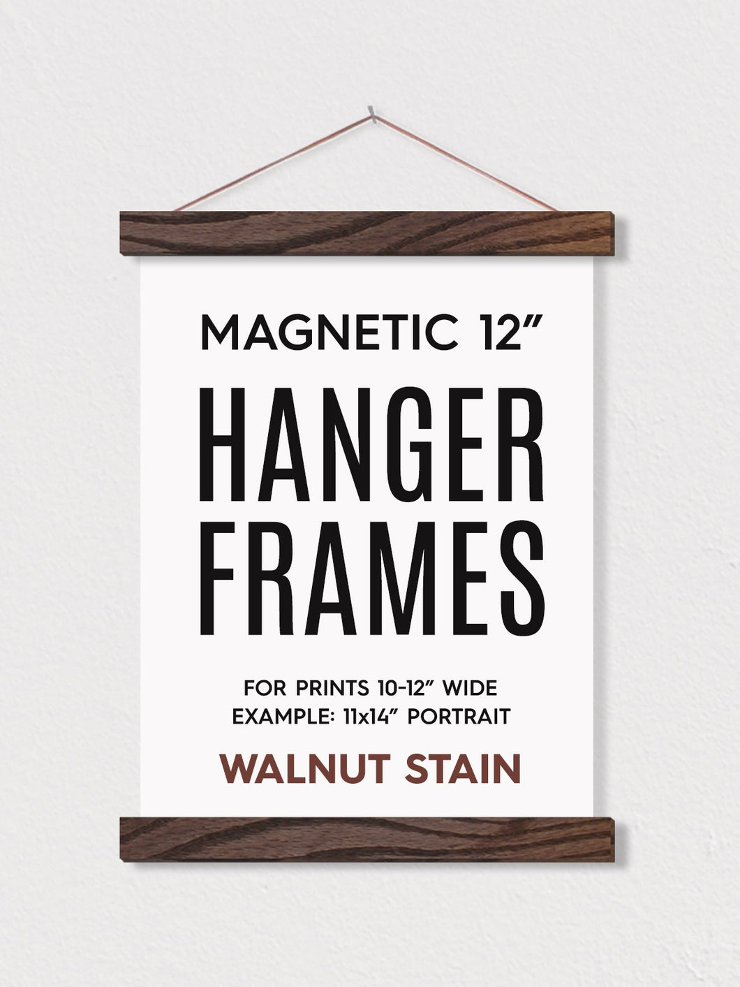 Magnetic Hanging Frames - Walnut