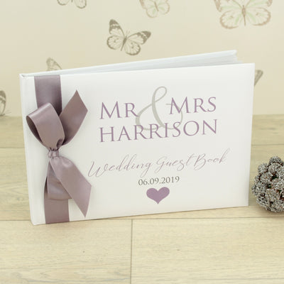 Personalised Mr & Mrs Wedding Guest Book