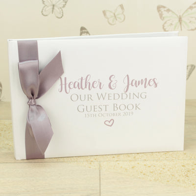 Personalised Alice Wedding Guest Book