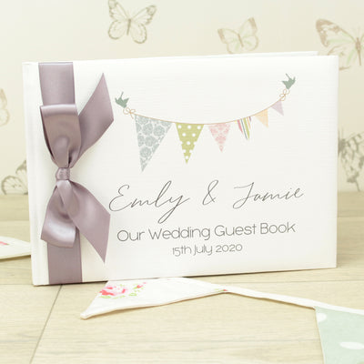 Personalised Bunting Wedding Guest Book