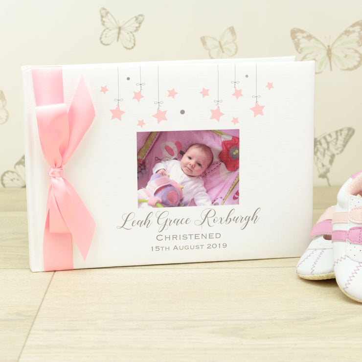 Photo Christening Guest Book