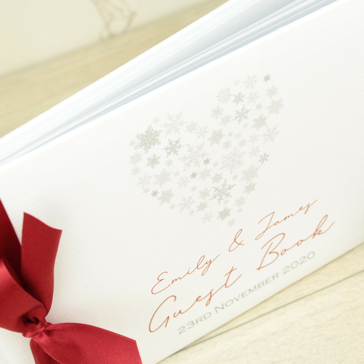 Personalised Snowflake Wedding Guest Book