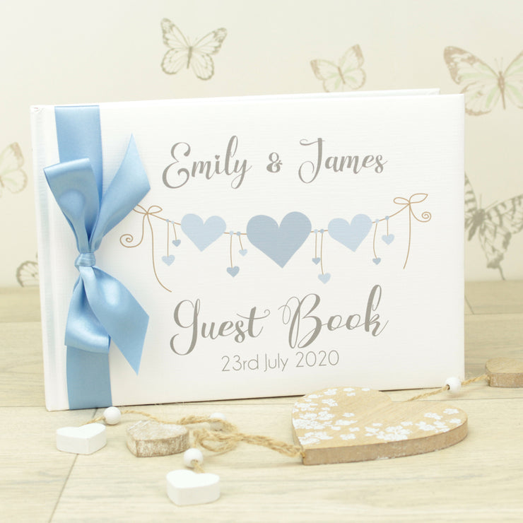 Personalised Heart String Wedding Guest Book