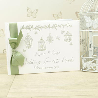 Personalised Birdcage Wedding Guest Book