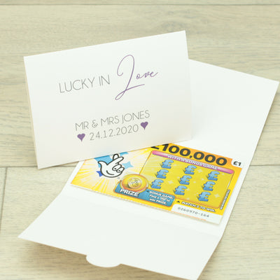 Personalised Lucky in Love Lottery Wallet