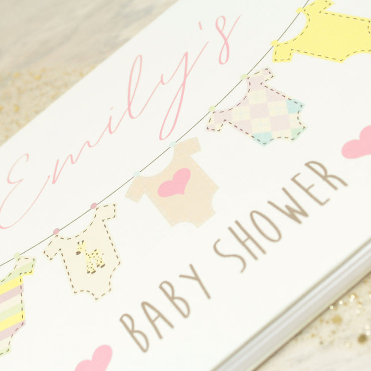 Baby Shower Bunting Guest Book